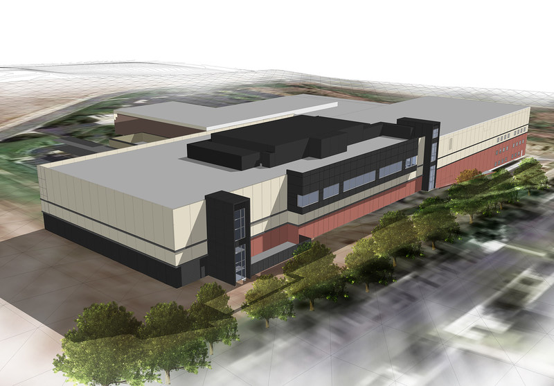 Image of what the Aerospace Manufacturing Center expansion will look like upon completion.