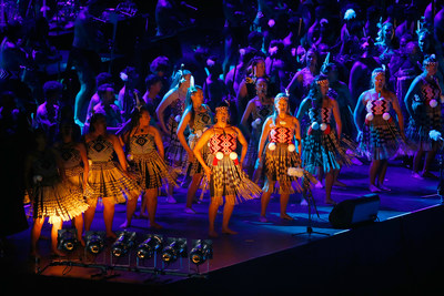 A laser light show featuring Maori culture and thousands of participants opened the World Masters Games Opening  ...