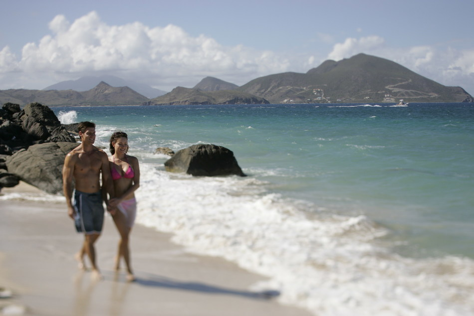 Lover's Beach is a secluded beach and just one of the many reasons Nevis is perfect for romantic getaways.