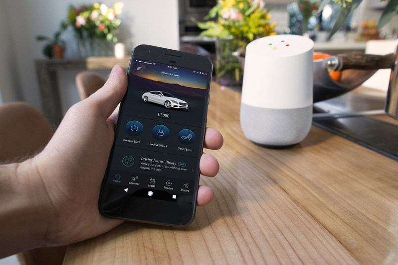 Customers will be able to use Google Assistant on Google Home with all 2016 and 2017 Mercedes-Benz models in the United States.