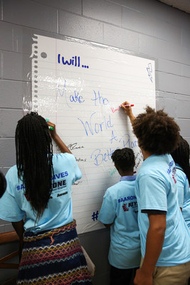 Keystone teen members of the U.S. Bank Boys & Girls Club of Cincinnati were surprised on Wednesday when associates from Aaron's, Inc., a leading omnichannel provider of lease-purchase solutions, and its divisions Aaron's and Progressive Leasing, unveiled a newly renovated Keystone Teen Center. As part of Aaron's three-year, $5 million national partnership with Keystone, Aaron's associates have remodeled 20 Keystone Teen Centers across the U.S.