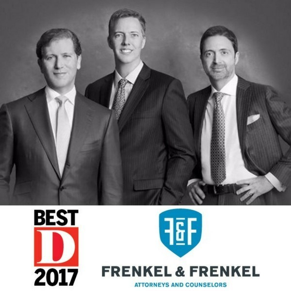 Three partners at the Dallas, Texas-based law firm of Frenkel & Frenkel have been named to D Magazine's list of Best Lawyers in Dallas for 2017. Scott Frenkel (from left), Gene Burkett and Mark Frenkel have earned the honor for many straight years. The trio's law firm specializes in seeking compensation for damages resulting from vehicle-related injuries, medical malpractice, defective products and on-the-job injuries. For information and a free consultation, call 1-800-834-0000 or visit www.FrenkelFirm.com.