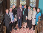 James Quinn, Chief Development Officer, Foundation for Morristown Medical Center, Carol Jones, Chief Nursing Officer, Morristown Medical Center, Katie Nolle, General Co-Chair, Mansion in May 2017, Marc Adee, Chairman & Chief Executive Officer, Crum & Forster, Nicole Bennett, Chief of Staff, Crum & Forster, Anthony Slimowicz, Executive Vice-President, Crum & Forster, Megan Schubiger, General Co-Chair, Mansion in May 2017, Mary Courtemanche, President, Women's Association for Morristown Medical Ce