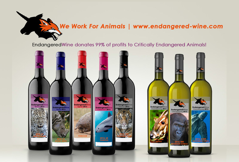 Endangered-Wine proto types of cabernet and Chardonnay wine and lifestyle label and mission.