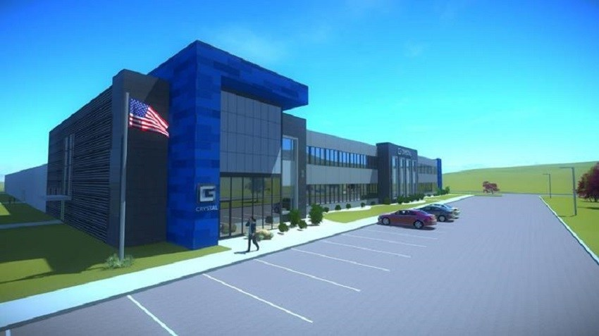 Crystal Group's new 111,500-square foot facility in Hiawatha, Iowa is expected to be completed in the Summer of 2018. Architect's rendering.