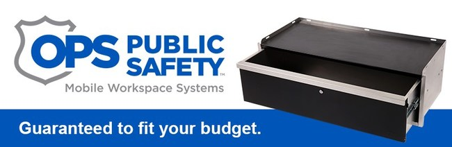 OPS Public Safety launches its Pursuit Series, a growing line of affordable interior storage systems for law enforcement and public safety vehicles.