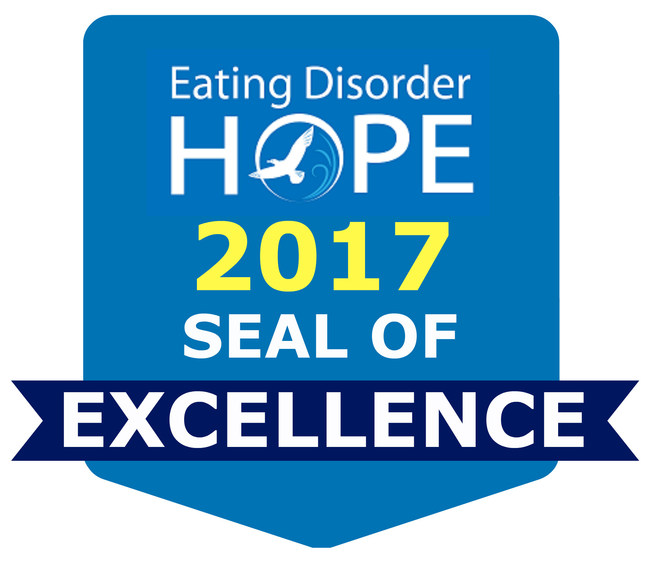 Eating Disorder Hope 2017 Seal of Excellence
