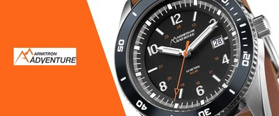The Armitron Adventure line of rugged outdoor watches include outdoor sport features such as altimeters, barometers, and compasses as well as calorie consumption and activity trackers with tough leather or nylon straps, stainless steel construction, and illuminated dials.