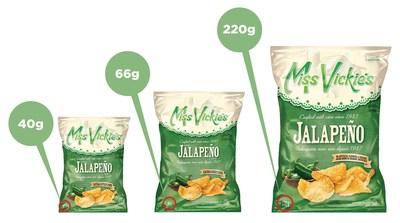 Rappel des croustilles cuites à la marmite Miss Vickie's à saveur de jalapeño en raison d'une possible présence de salmonelle dans l'assaisonnement rappelé par le fournisseur (Groupe CNW/PepsiCo Canada)