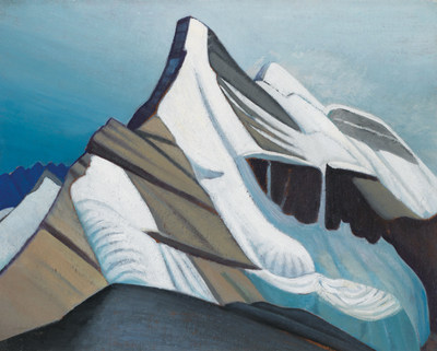 Six important works by Group of Seven founder Lawren Harris will hit the auction block in Heffel's spring live sale, including Lynx Mountain, Mt. Robson District, BC / Mountain Sketch XLI, a stunning Rocky Mountain oil on board from Group of Seven period (estimate: $600,000 - 800,000) (CNW Group/Heffel Fine Art Auction House)