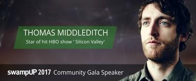 Thomas Middleditch, star of HBO's Silicon Valley, swampUP 2017 keynote speaker (PRNewsfoto/JFrog)