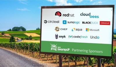 swampUp 2017 partnering sponsors (PRNewsfoto/JFrog)
