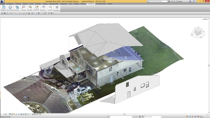 Extract Scan to BIM: building models from scan data using PointSense for Revit