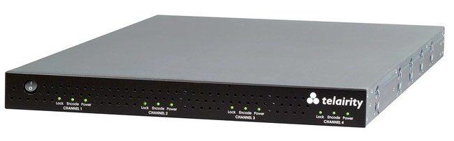 The Telairity BE9400 4-channel SD system. Reconfigurable as a dual-channel BE8200 HD system.