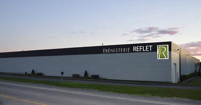 Voici la future allure du nouveau bâtiment acquis par Ébénisterie Reflet (Groupe CNW/INVESTISSEMENT QUÉBEC)