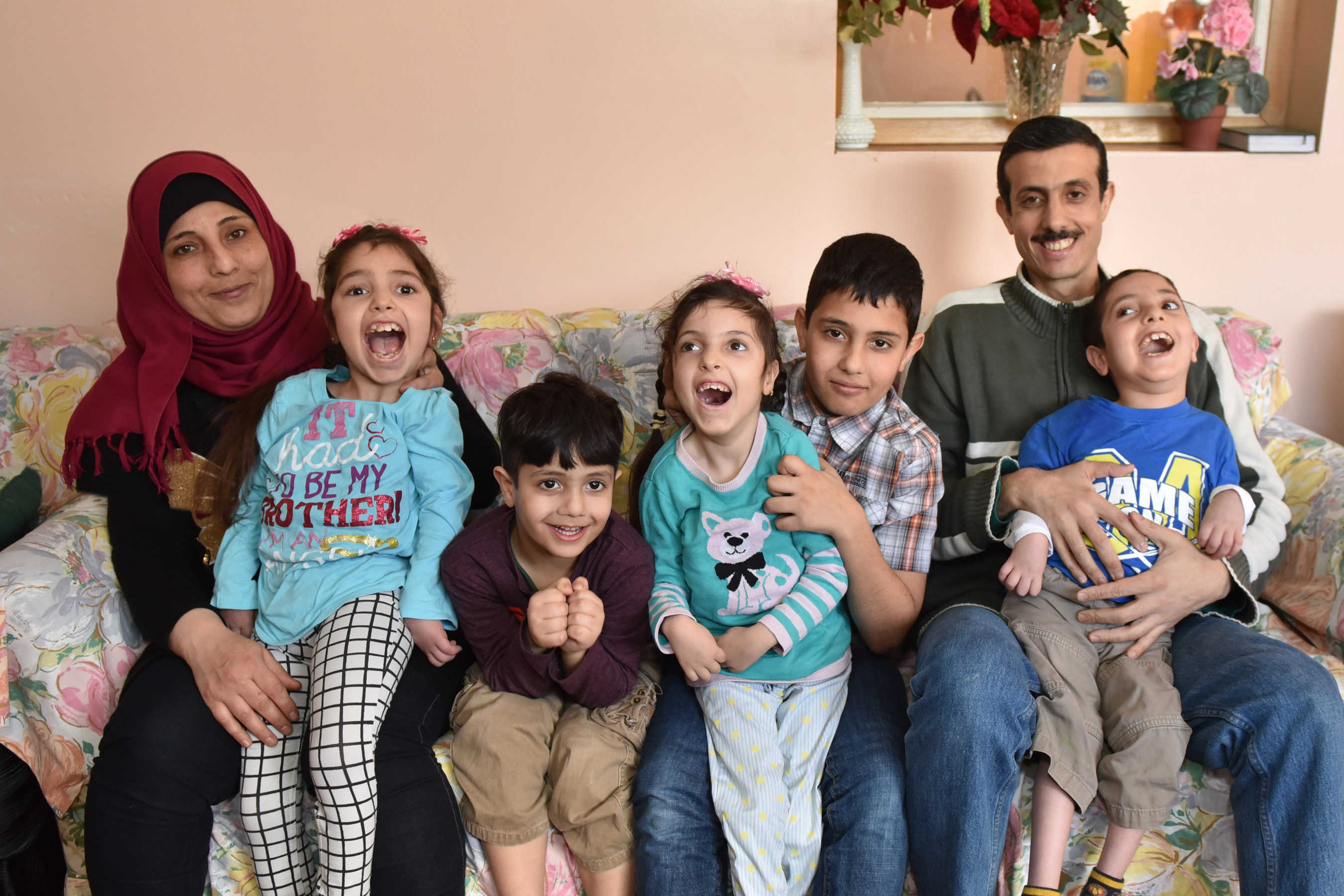 s 2016 record high level of resettlement praised by unhcr the alrajab family enjoying their home in saint john new brunswick from left to right mother shamsa sarah 11 muhammed 5 barraa 7 adnan 12