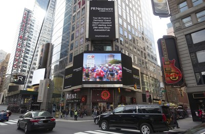 Grand Depart Dusseldorf 2017 at New York Times Square