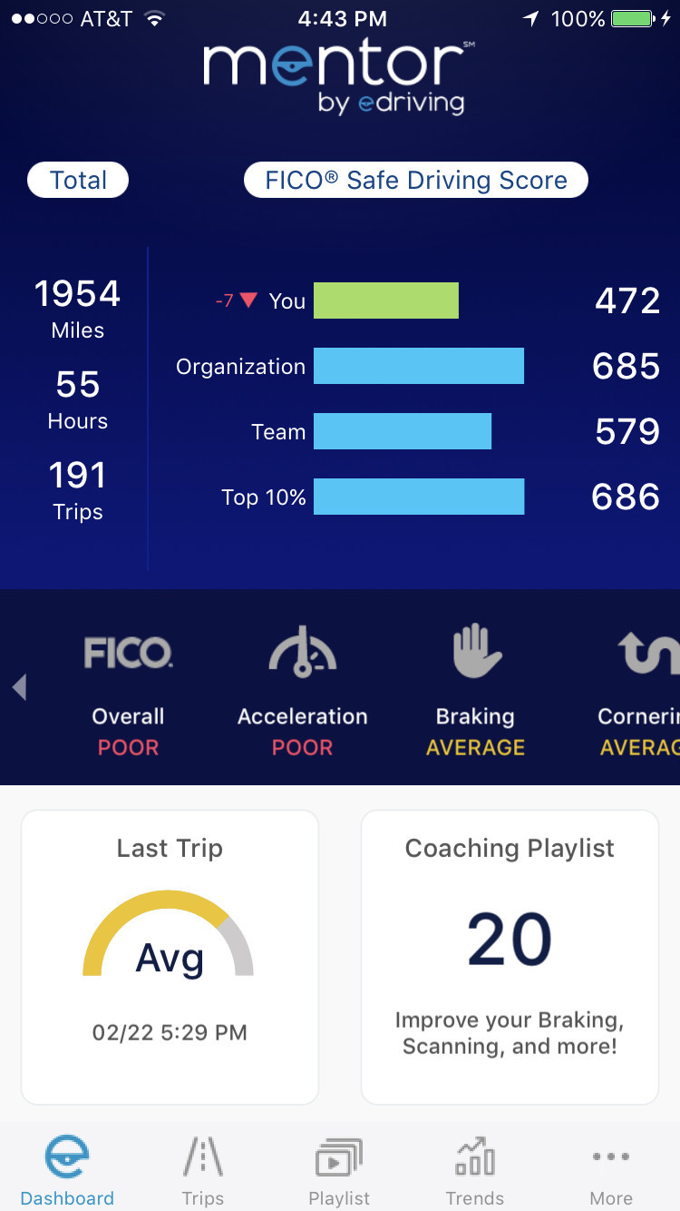Mentor with FICO® Safe Driving Score