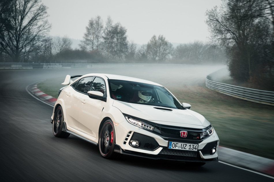 2017 Civic Type R Claims Title as World's Fastest Front-Wheel-Drive Production Car with Record Nürburgring Lap Time