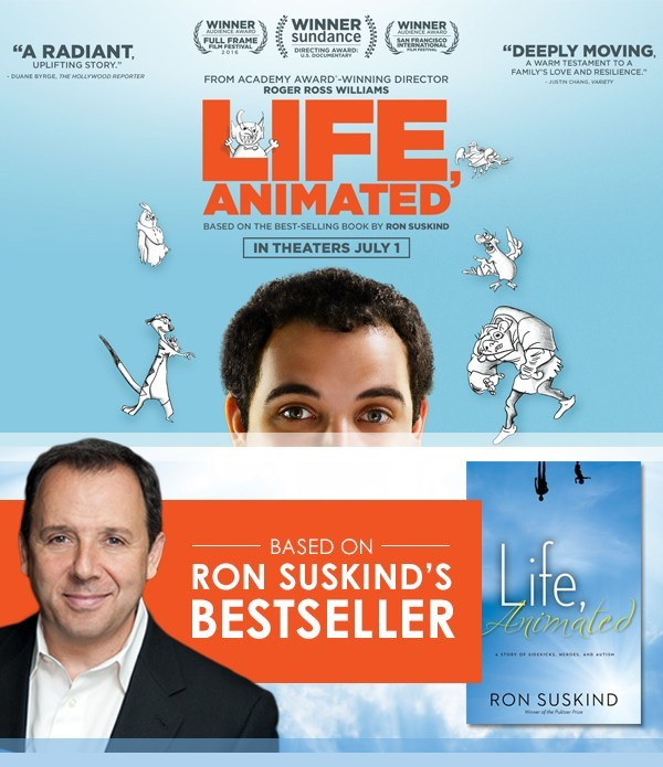 Author chronicles his family's journey in connecting with their autistic son through animated films, a story told in the Academy Award-nominated documentary, Life, Animated.