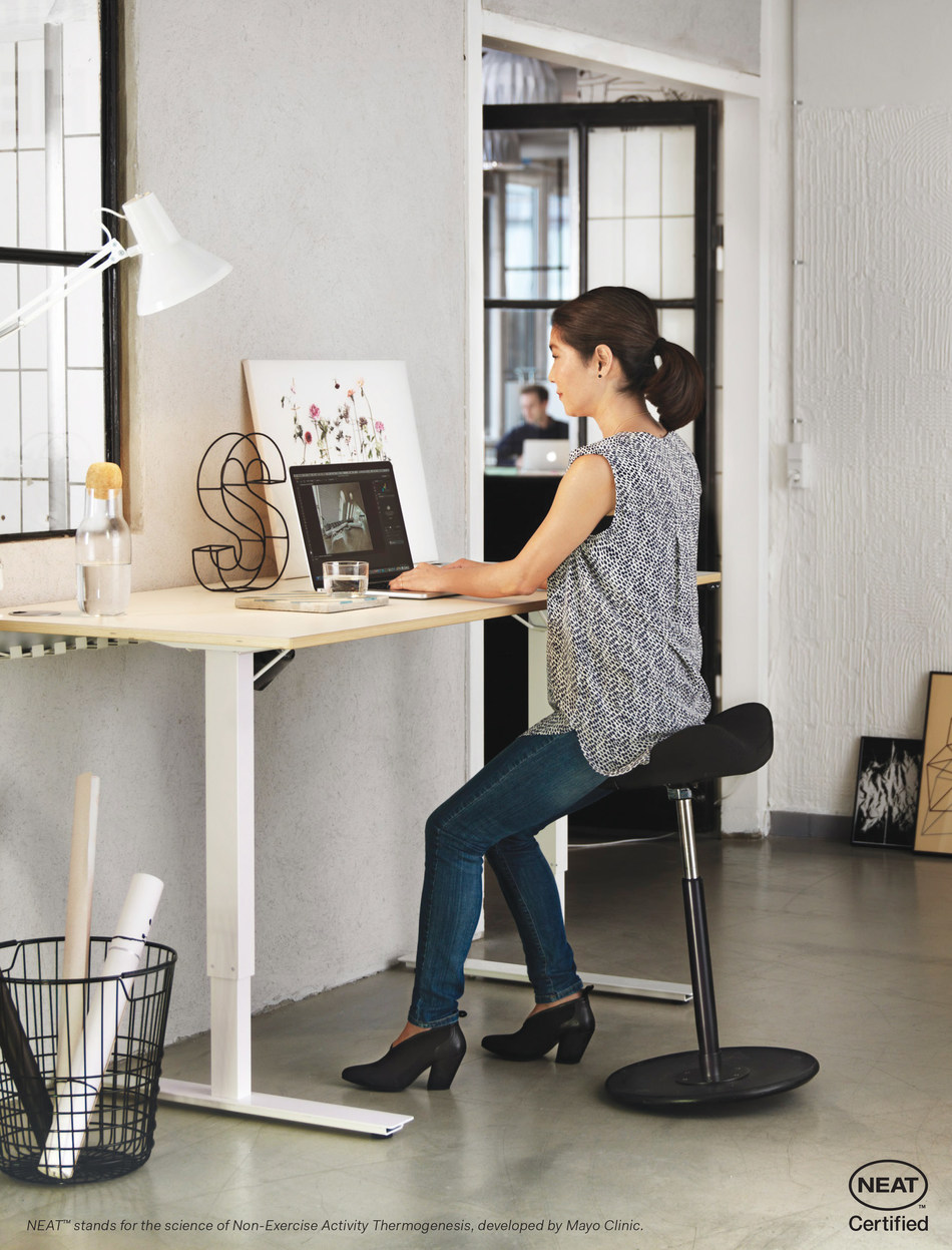 Move is a healthier way to work, and using it encourages movement, keeps your core engaged, and burns calories.