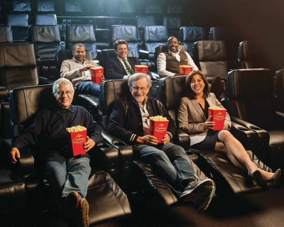 Ron Meyer, Vice Chairman, NBCUniversal, and Acclaimed Filmmaker Steven Spielberg, along with Jordan Peele, Will Packer and Jason Blum, Help Universal CityWalk Inaugurate its All-New State-of-the-Art Universal Cinema.