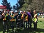 Volunteers with community programming mentor Steve Sleep (CNW Group/Eastlink)