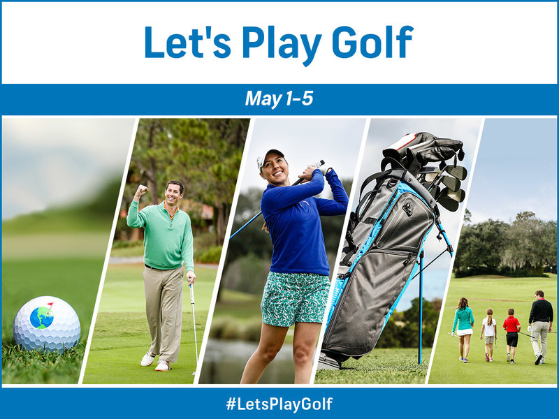 The Golf Channel-GolfNow initiative, Let's Play Golf, encourages people to visit a local golf course, May 1-5, and participate in a choice of themed days designed for golfers of all types, from beginners to women to families.  Nearly 1,000 golf courses across North America are participating.
