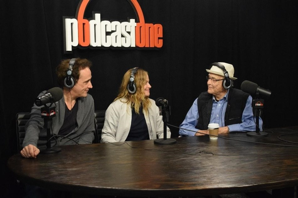 Pictured (left to right): Paul Hipp, Amy Poehler and Norman Lear