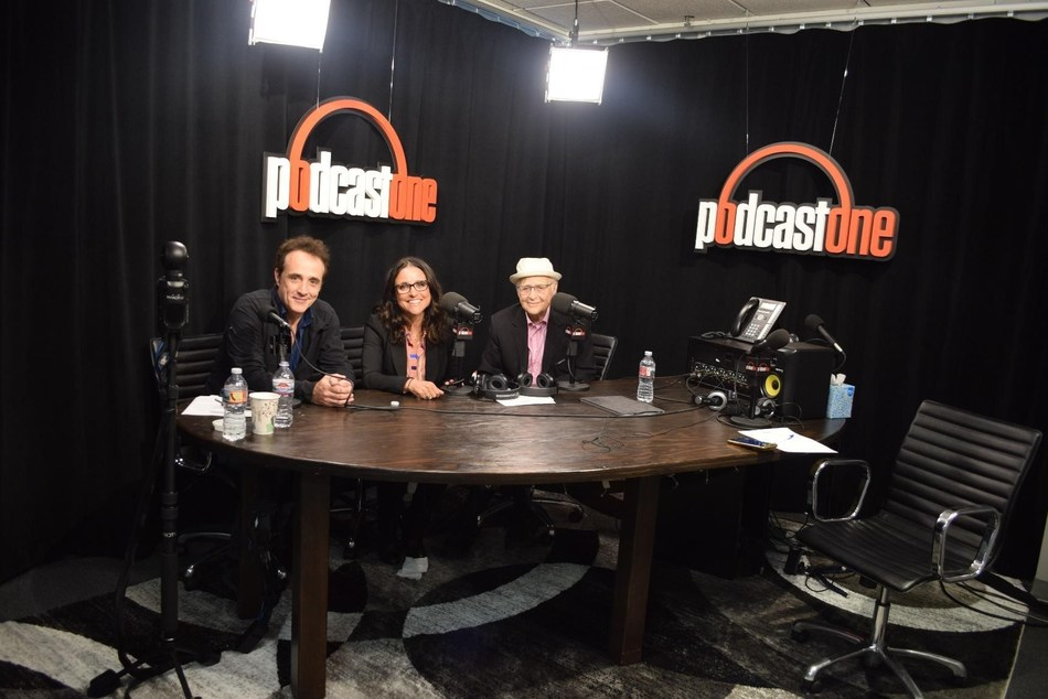 Pictured (left to right): Paul Hipp, Julia Louis-Dreyfus and Norman Lear