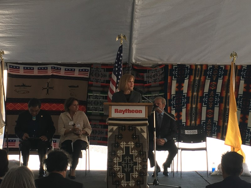 New Mexico, Navajo Nation, and Raytheon officials hosted a ribbon-cutting for a new warehouse at Raytheon's Diné facility.