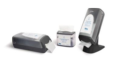 Distributrices de serviettes de table entrepliées Cascades PRO Tandem : modèles de comptoir, de table et sur pied/mural. (Groupe CNW/Cascades Inc.)