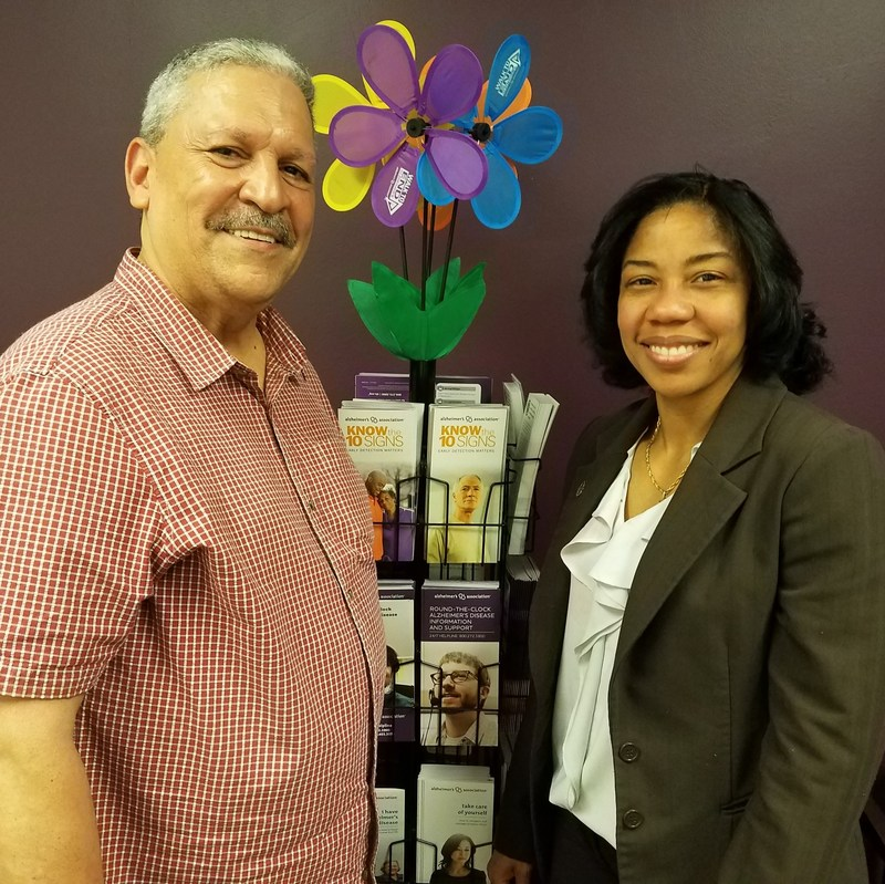 George Valentin and Licet Valois, LMSW, MPS, Care and Support Program Manager at the Alzheimer's Association – NYC Chapter