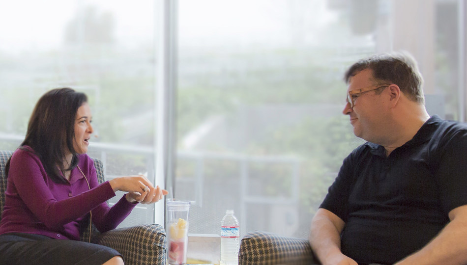 Facebook COO Sheryl Sandberg is one featured guest who appears on Masters of Scale, a new podcast hosted by LinkedIn Co-Founder and Greylock Partner Reid Hoffman. Photography by Jacqui Ipp