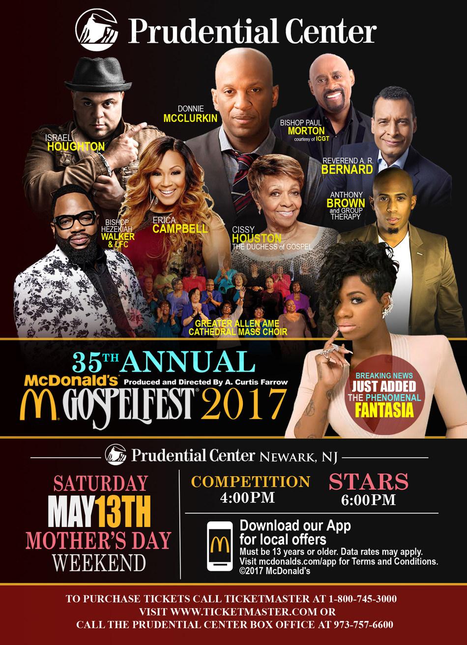 McDonald's Gospelfest 2017 poster