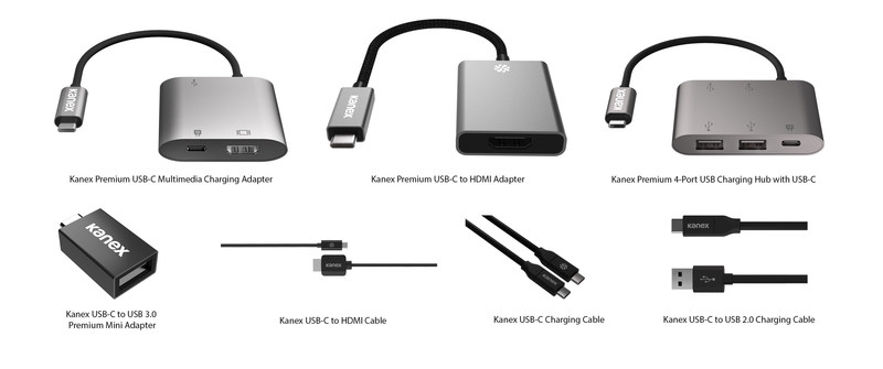 Kanex's complete line of USB-C cables and adapters are suitable for a variety of applications and are compatible with a wide-ranging list of devices, including Thunderbolt-enabled computers, assorted MacBooks and MacBook Pros, HP Spectre, Dell XPS, Google Chromebook Pixel, USB-C ready computers, 4K and HD-ready monitors, displays, and TVs.