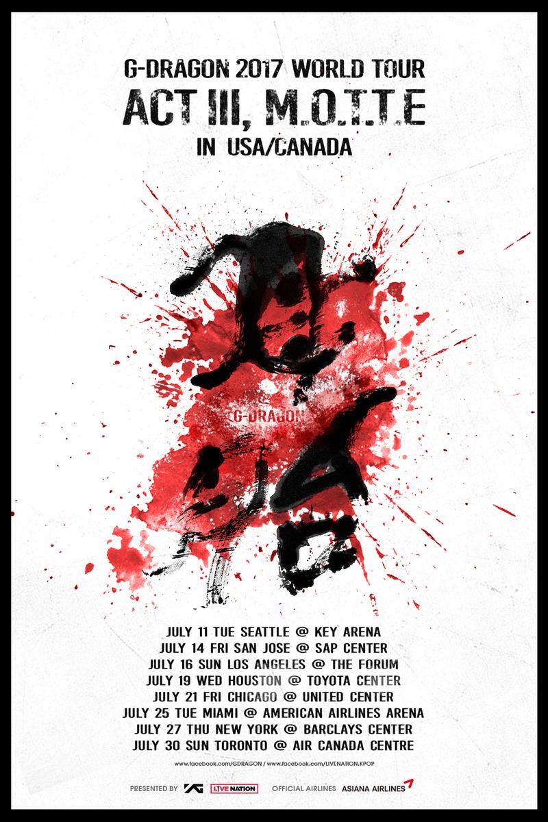 G-DRAGON 2017 WORLD TOUR