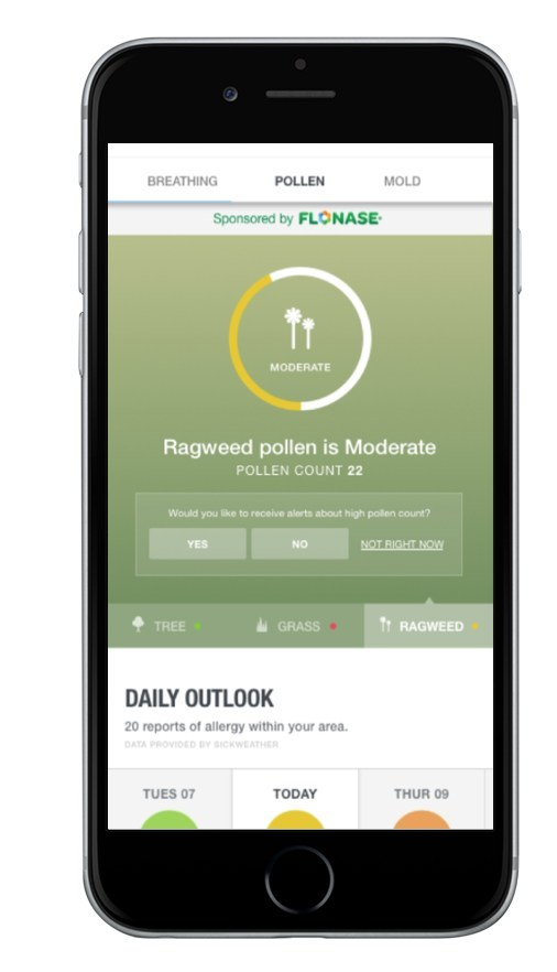 The Weather Company, an IBM Business, introduces an enhanced Allergy Tracker, which includes increased personalization capabilities to help consumers stay one step ahead of their allergies this season. The Allergy Tracker delivers a comprehensive experience where information for managing allergies is available in the same place. The updated Allergy Tracker  is part of GSK Consumer Healthcare's and PHD Media Worldwide's overall campaign to launch the new Flonase® Sensimist™ Nasal Spray.