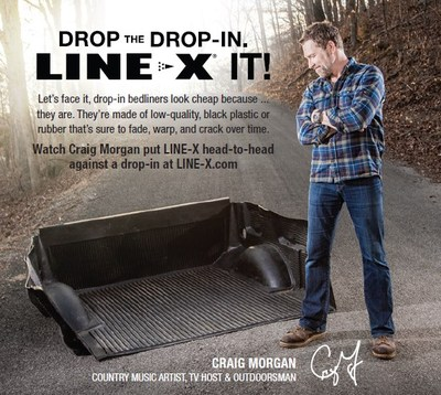 LINE-X has teamed up with country music entertainer, military veteran, award-winning TV host and philanthropist – Craig Morgan – to call on truck owners across the United States and beyond to drop their drop-in bedliners and choose LINE-X, the same scientifically-advanced spray-on coating that's trusted to protect the Pentagon from bomb blasts. The prominent musician is at the center of a multiplatform, integrated marketing campaign with the long-time leader in powerful protective coatings.