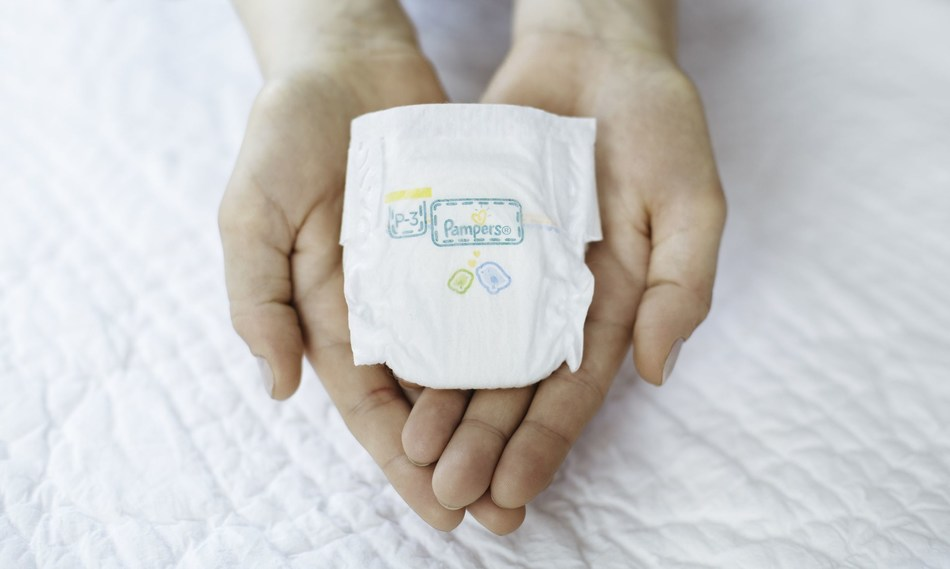 UK's smallest nappy for babies weighing less than 1.8lb (PRNewsfoto/Pampers UK)