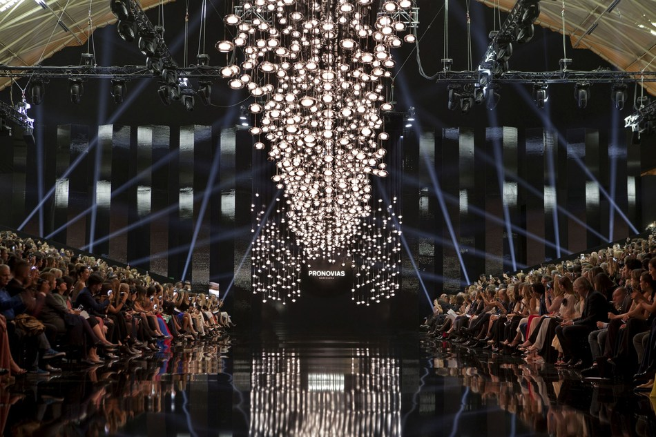 PRONOVIAS FASHION SHOW 2017 – 'LE CIEL'runway before the big moment. All guests ready for the show to start. (PRNewsfoto/Pronovias)