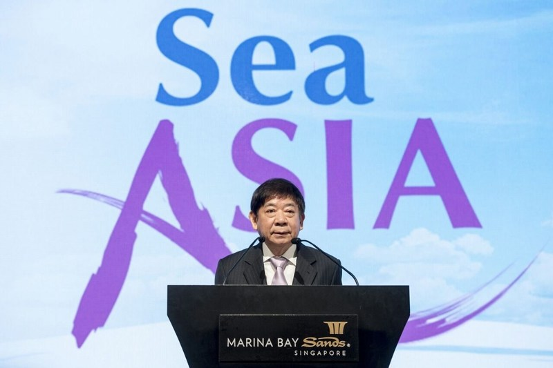 Coordinating Minister for Infrastructure and Minister for Transport, Mr Khaw Boon Wan at the Sea Asia  2017 Opening Ceremony.
