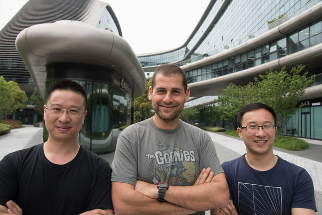 LeapLearner's Founders: (L-R) Leo Zhao, CTO, Ami Dror, CEO LeapLearner, and Aaron Tian, CEO LeapLearner China