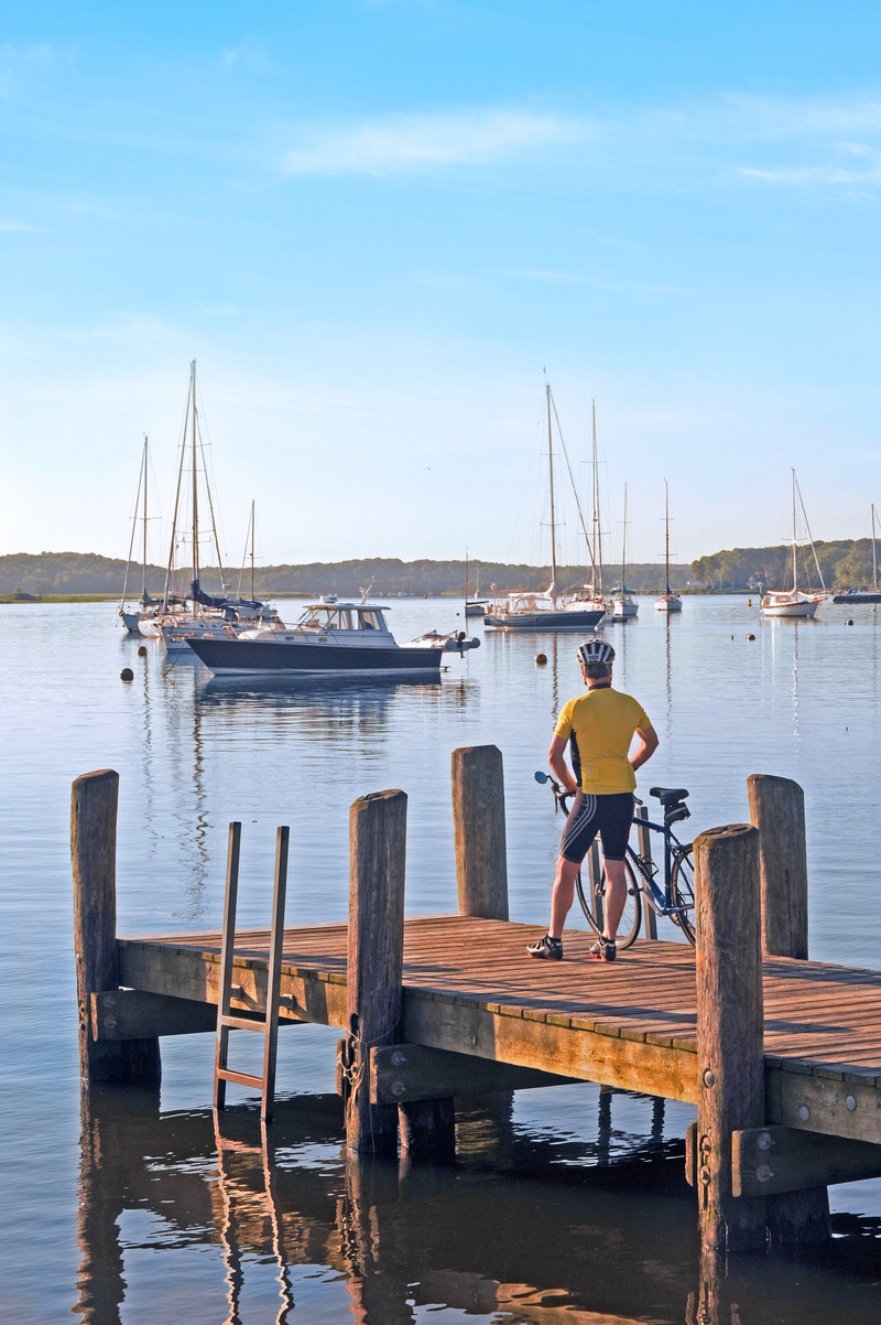 View from the Town Dock in Essex, Connecticut.