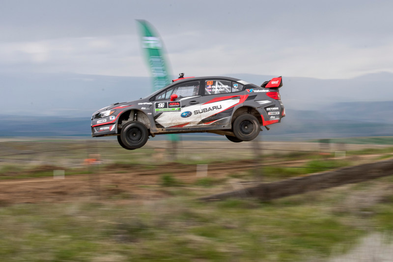 Pastrana gets airborne at the Oregon Trail Rally