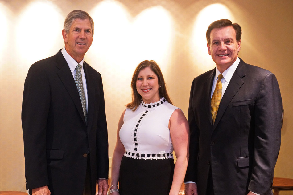 Pictured left to right: Cal Dooley, president and CEO, American Chemistry Council; Lisa Marie Nespoli, manager, Product Safety and Stewardship, Covestro LLC; and Michael Graff, Board Chair for Responsible Care® Committee.