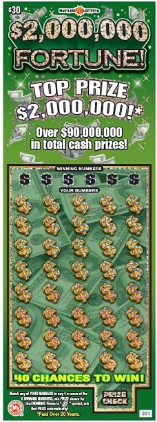 Maryland Lottery's $30 Scratch-Off Ticket with Pollard Banknote's Scratch FX® (CNW Group/Pollard Banknote Limited)
