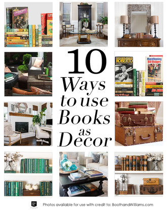 Top 10 Ways to Use Books as Decor this Spring and Beyond