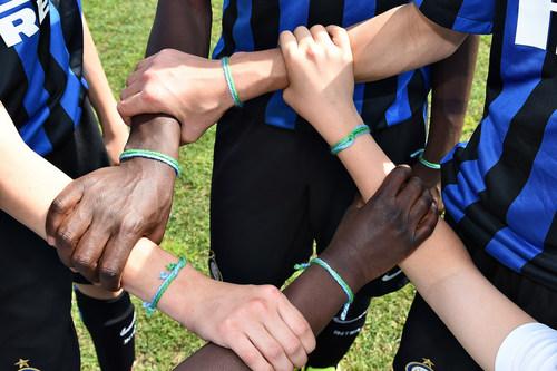 Friendship bracelet, the official symbol of the F4F programme (PRNewsfoto/Gazprom FOOTBALL FOR FRIENDSHIP)