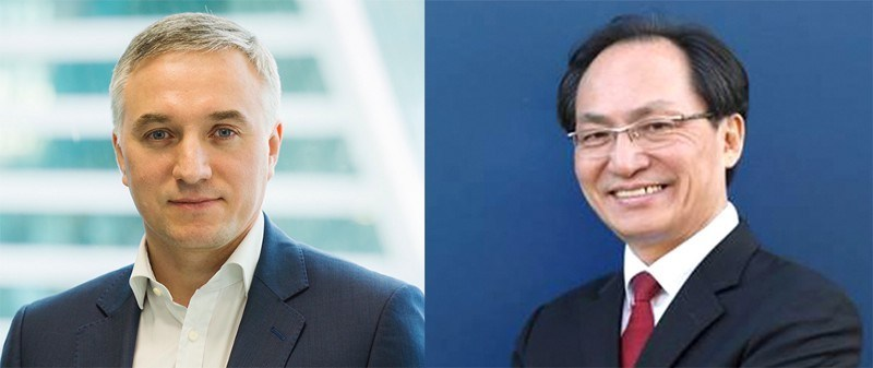 Dmitry Kaminskiy (Humaniq Co-Founder) and Changki Park (BOScoin CEO)